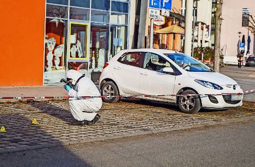Die Schüsse in der Nacht zum Samstag in Bietigheim haben ein paar parkende Autos getroffen. Foto: SDMG