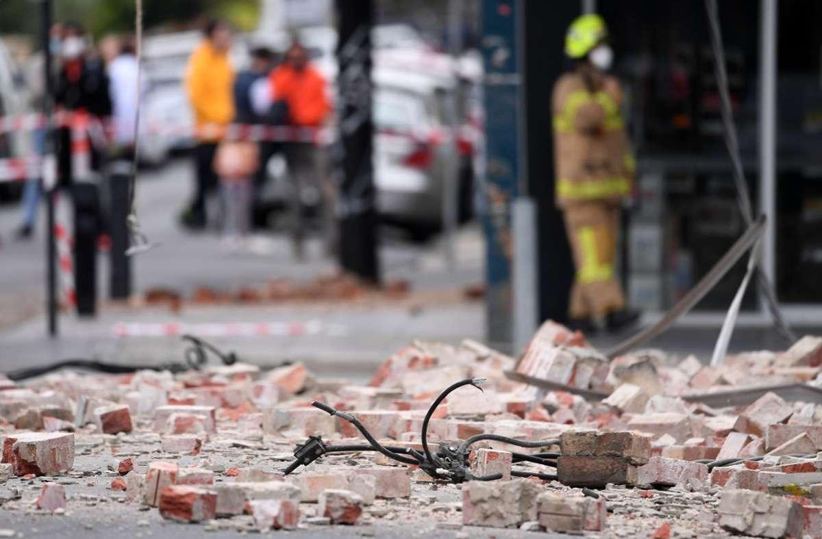 Gebäude wurden durch das Erdbeben beschädigt. Foto: dpa/James Ross