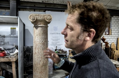 Eine griechische Säule für Loriot