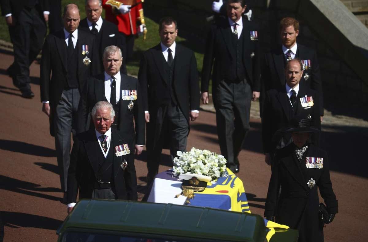 Prinz Philip wurde am Samstag beigesetzt. Foto: dpa/Hannah Mckay
