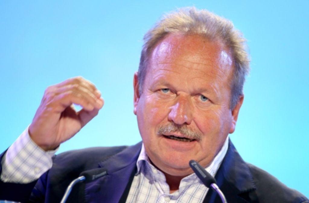 Verdi-Chef Frank Bsirske lässt keine Zweifel an seiner Entschlossenheit. Foto: dpa