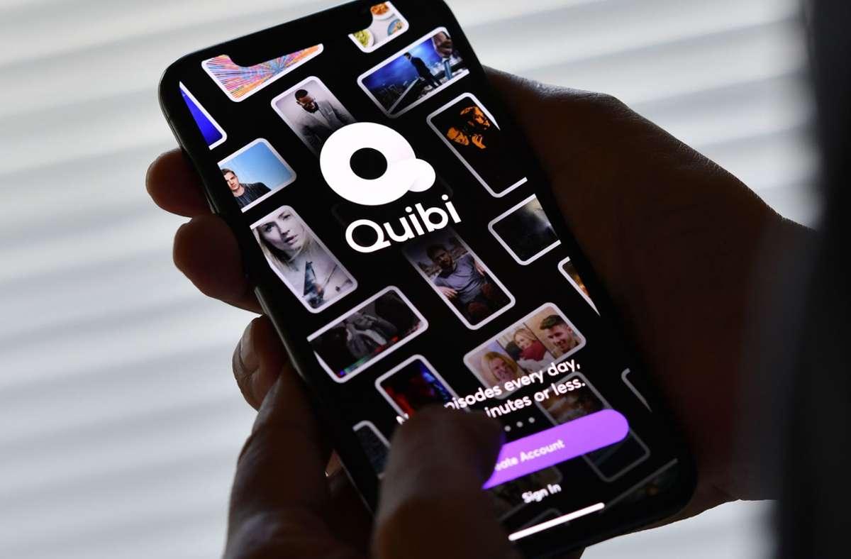 Einzig über das Smartphone konnte man Quibi nutzen. Foto: AFP/Chris Delmas