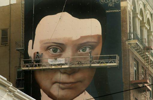 Greta Thunberg als Riesenwandbild