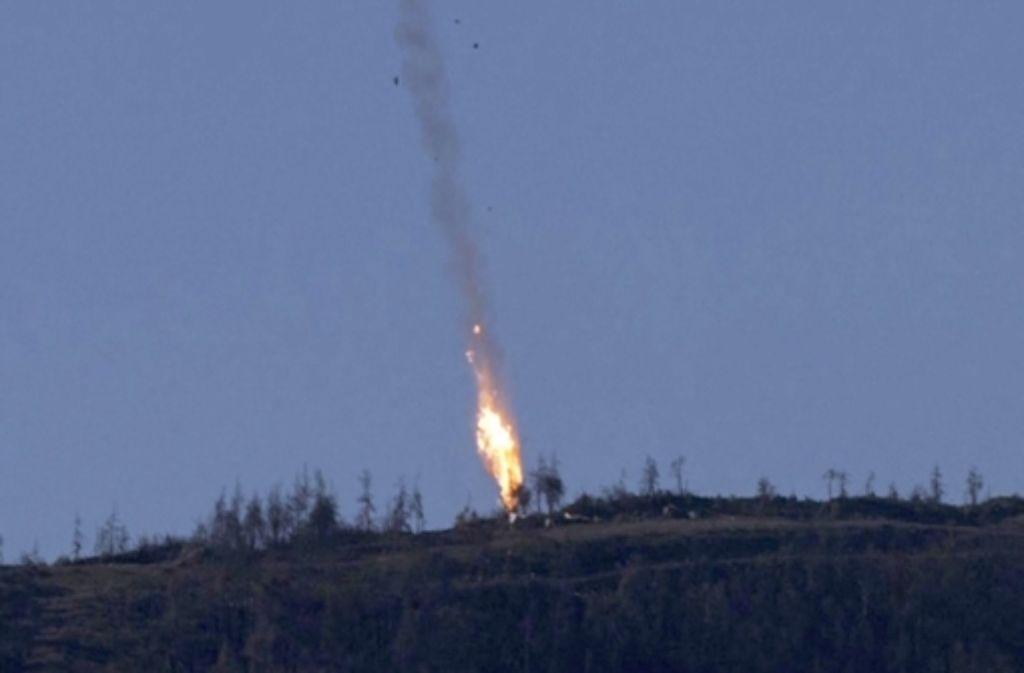 Die türkische Luftwaffe hat einen russischen Jet abgeschossen. Foto: dpa/HABERTURK TV CHANNEL
