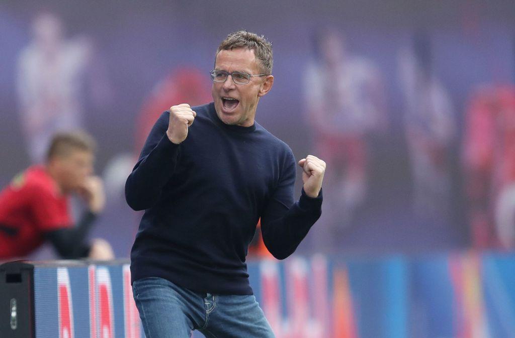 Rangnicks Vertrag bei RasenBallsport Leipzig läuft noch bis zum 30. Juni 2021. Foto: AFP