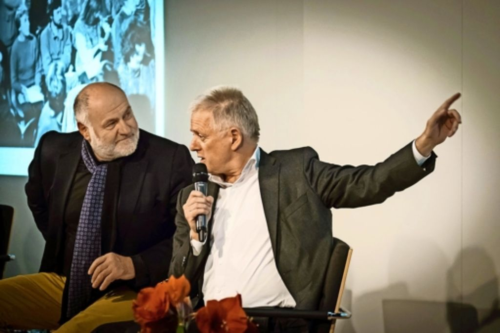 Rezzo Schlauch und Fritz Kuhn verstehen sich nicht nur politisch gut. Foto: Lichtgut/Zweygarth