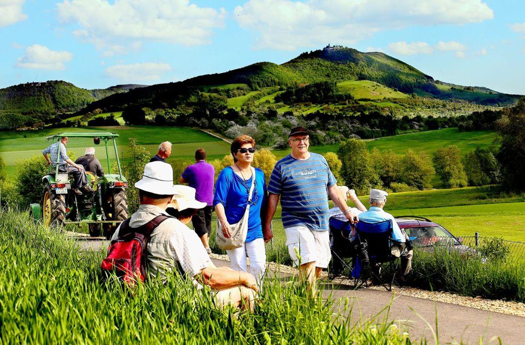 Kirchheim und der Teck-Neuffen-Gau sind Gastgeber des Landesfestes 2018 des Schwäbischen Albvereins. Auf geführten Wanderungen geht es Richtung Schwäbische Alb. Foto: Horst Rudel