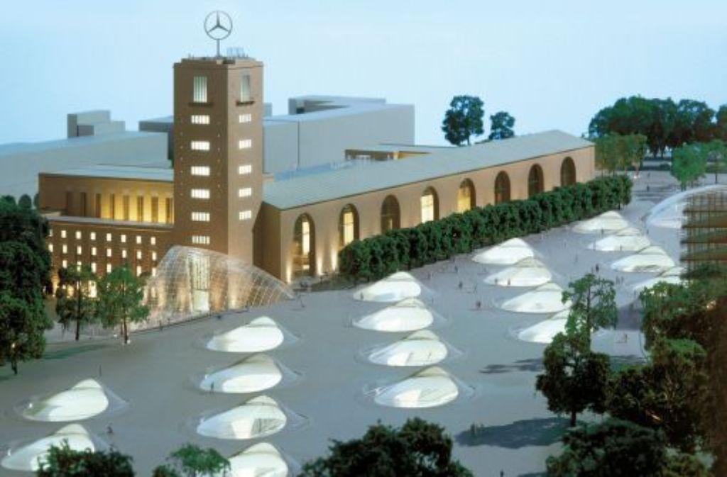 Das Modell zeigt wie der Stuttgarter Hauptbahnhof nach dem Umbau aussehen soll. Foto: dpa