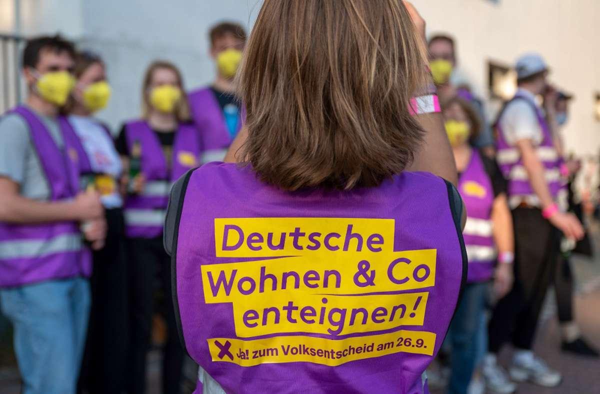Die Berliner haben für eine Enteignung großer Wohnungskonzerne gestimmt. Foto: dpa/Monika Skolimowska