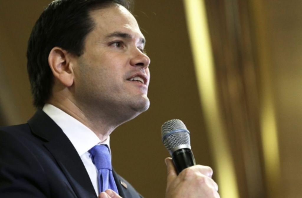 """Marco Rubio hat den Spitznamen """"Baby Face"""" – der Kandidat im republikanischen Rennen ist allerdings nicht zu unterschätzen. Foto: AP"""