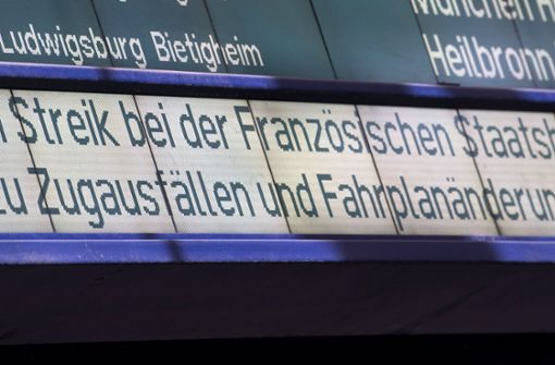 Verbindung zwischen Stuttgart und Paris betroffen