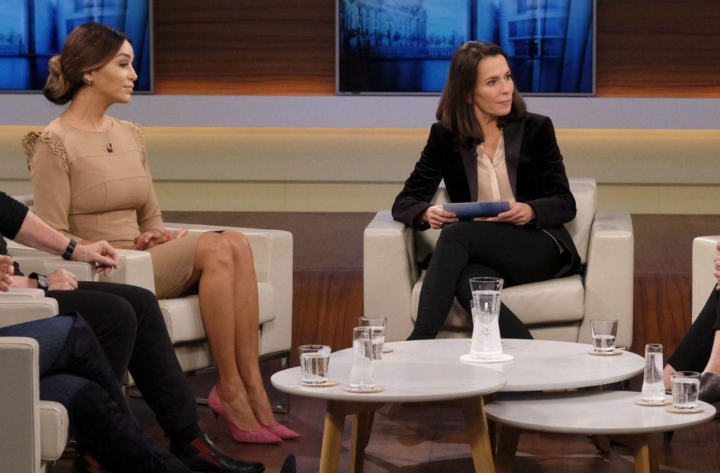"""Verona Pooth äußerte sich in der Sendung """"Anne Will"""" zur Sexismus-Debatte. Foto: dpa"""