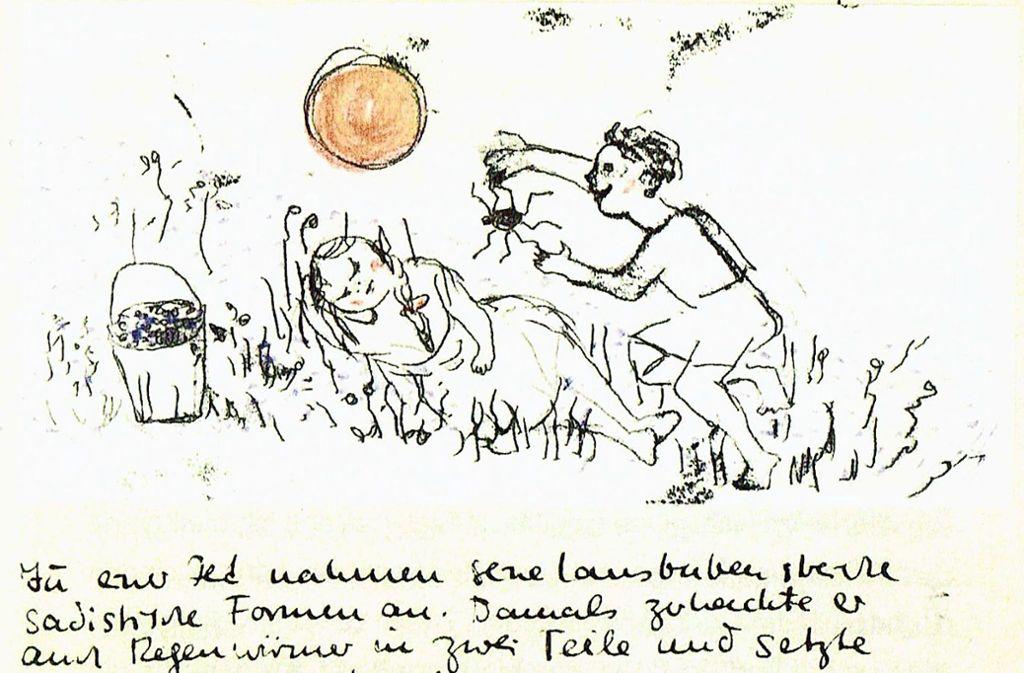 Die ersten Kindheitsgeschichten hatte Sigrid Baumann Senn zur Hochzeit ihres Zwillingsbruders aufgeschrieben und diese mit eigenen Zeichnungen versehen. Foto: Ralf Recklies