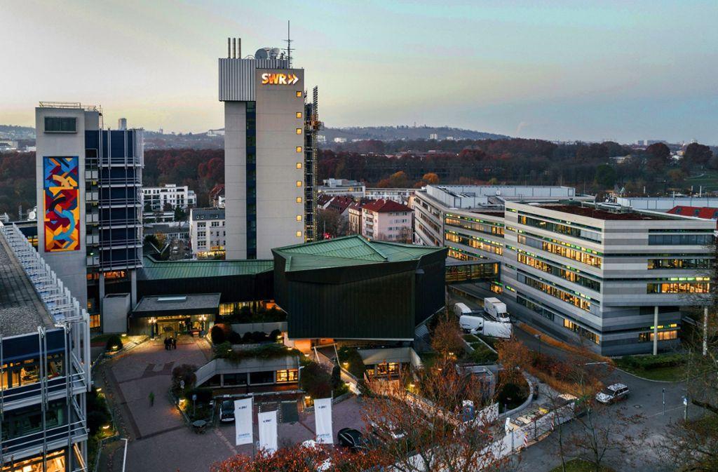 Das SWR-Funkhaus in Stuttgart: Zwischen den Senderstandorten Stuttgart, Mainz und Baden-Baden  herrscht nicht immer Harmonie. Foto: SWR/Jürgen Pollak