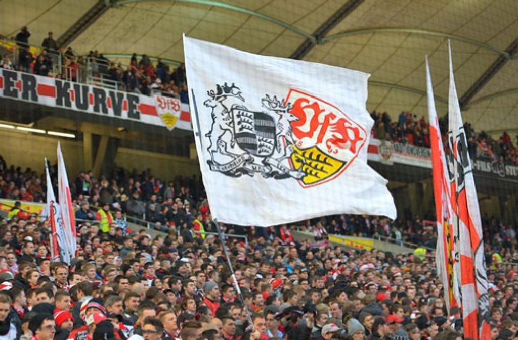 Zurzeit gibt es in der Mercedes-Benz Arena keinen Internetzugang für die VfB-Fans. Foto: dpa