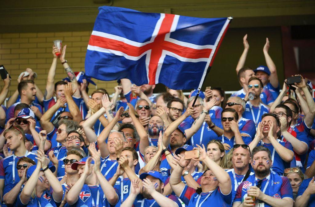 Nahezu jeder Isländer saß beim 1:1 gegen Argentinien bei der WM 2018 vor dem Fernseher. Foto: xinhua