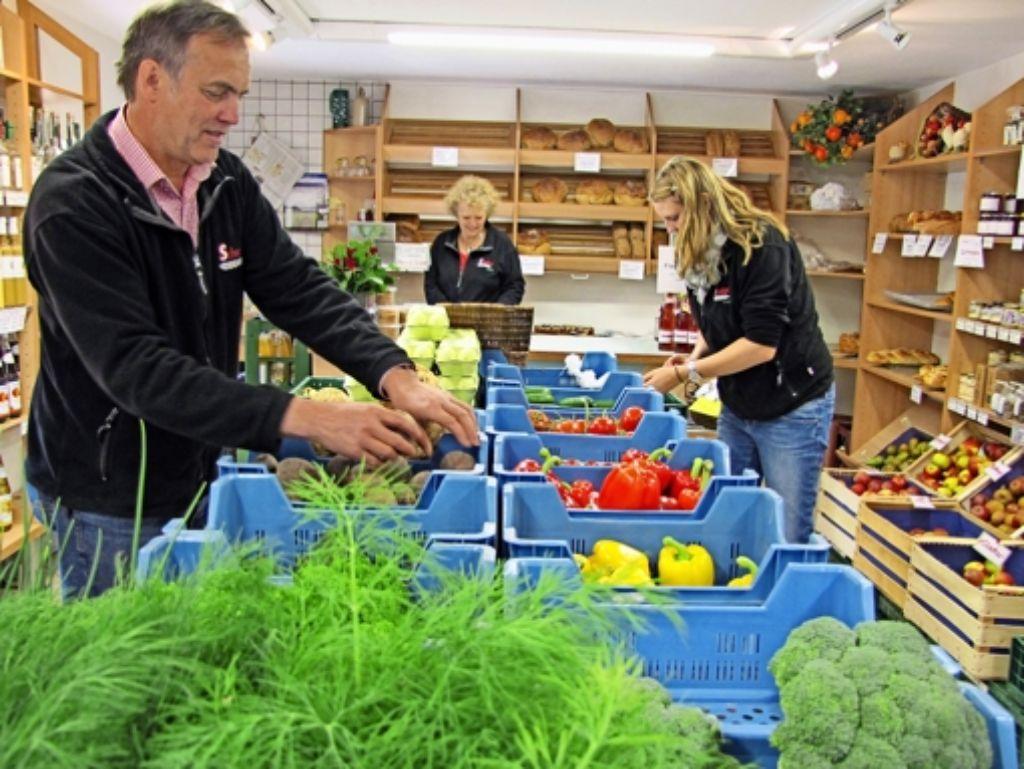 Die Schwaigers verkaufen regionale Lebensmittel in Birkach (Foto) und in Plattenhardt. Foto: Judith A. Sägesser