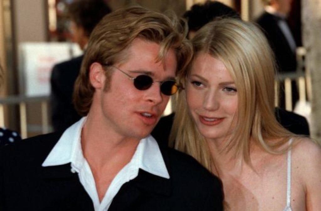 Als es Brennifer noch nicht gab und Brangelina noch in den Sternen stand, war Bryneth das heiß gehandelte Liebespaar Hollywoods - auch wenn damals niemand auf die Idee gekommen wäre, Brad Pitt und Gwyneth Paltrow so zu nennen. Von 1995 bis 1997 waren die beiden sogar verlobt - ... Foto: dpa