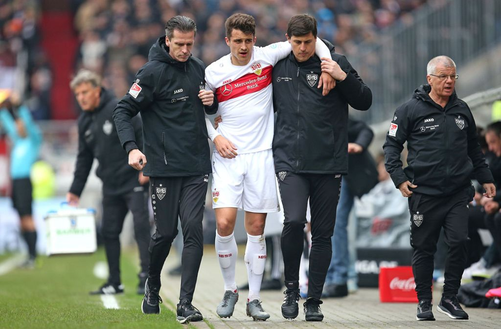 Schwer getroffen: Marc Oliver Kempf muss operiert werden. Foto: Baumann