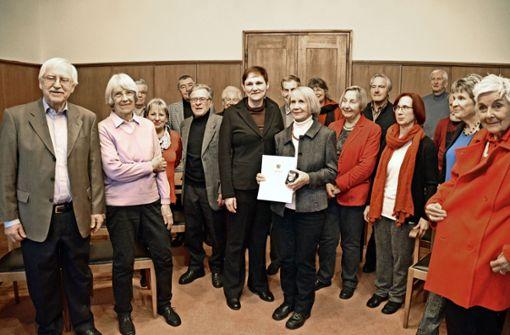 Inge Diehl bekommt die Ehrenmünze der Stadt