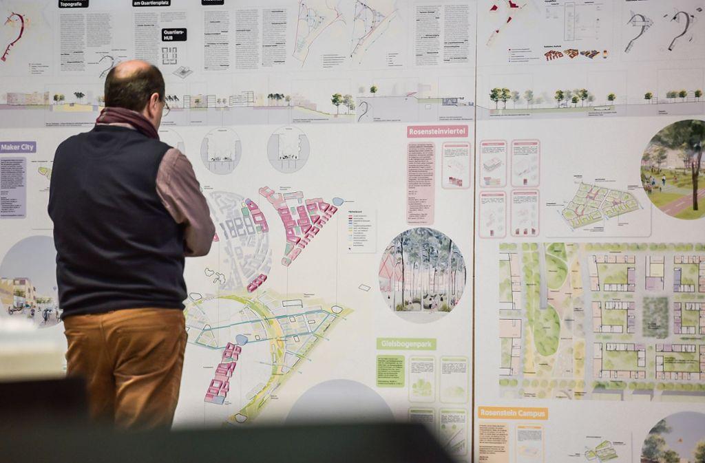 Pläne für das Rosenstein-Viertel Foto: Max Kovalenko
