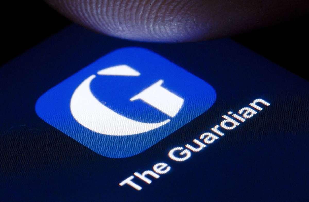 "Unter anderem war der ""Guardian"" betroffen. Foto: imago images/Thomas Trutschel"