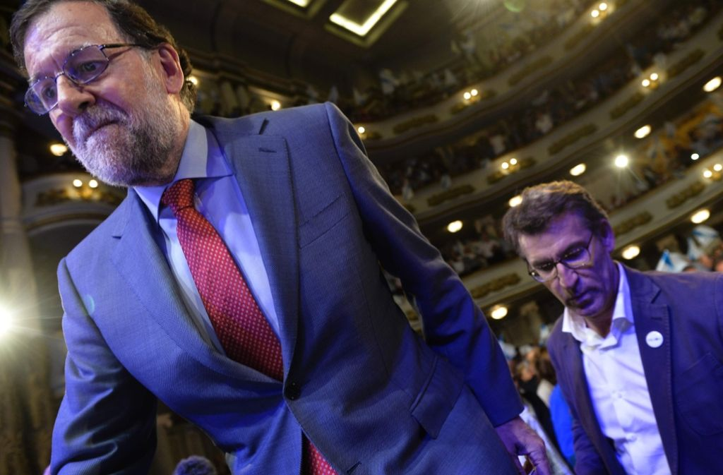 Der spanische Ministerpräsident Mariano Rajoy (links) bemüht sich um eine Regierung in Spanien. Foto: AFP