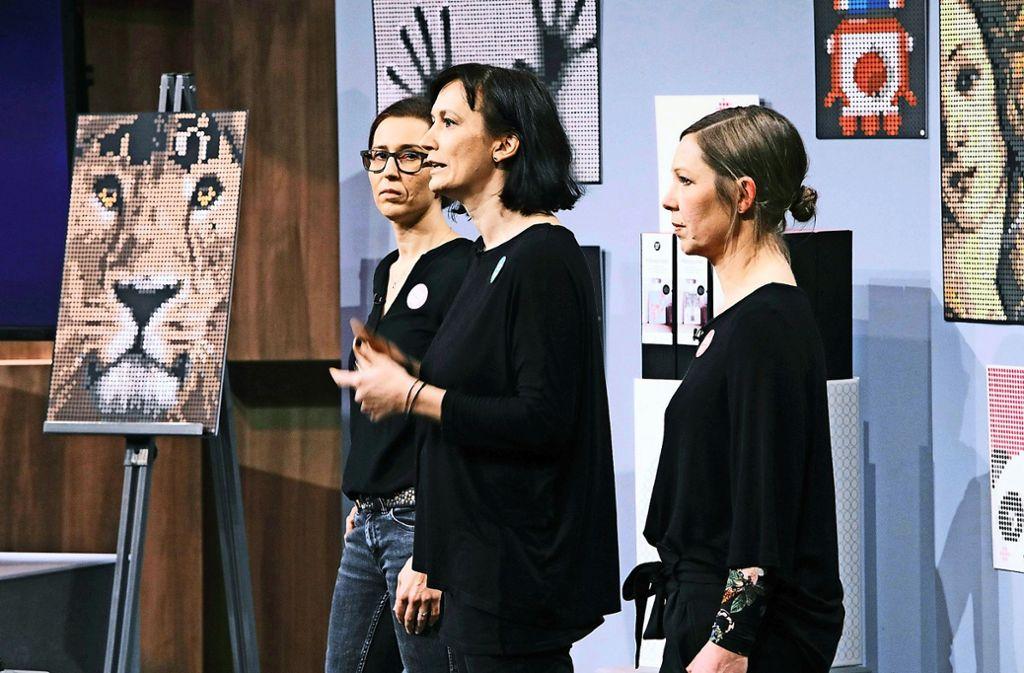 Die Stuttgarterinnen bieten für ein Investment von 100.000 Euro 20 Prozent ihres Unternehmens an. Foto: MG RTL D / Frank W. Hempel