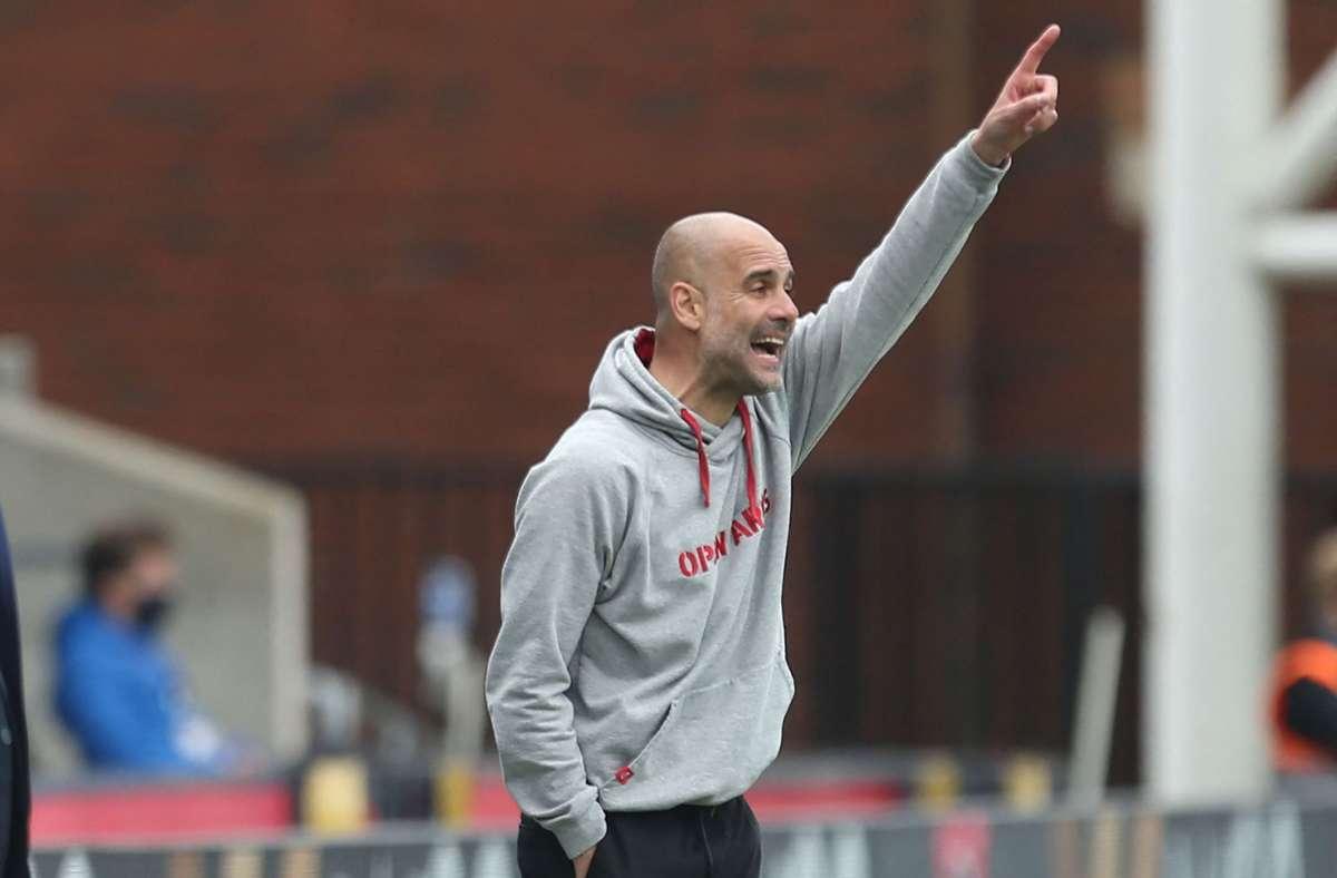 Pep Guardiola ist mit Manchester City englischer Fußballmeister geworden. (Archivbild) Foto: AFP/STEVEN PASTON