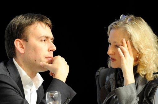 Finanzminister Nils Schmid und Kultusministerin Gabriele Warminski-Leitheußer Foto: dapd