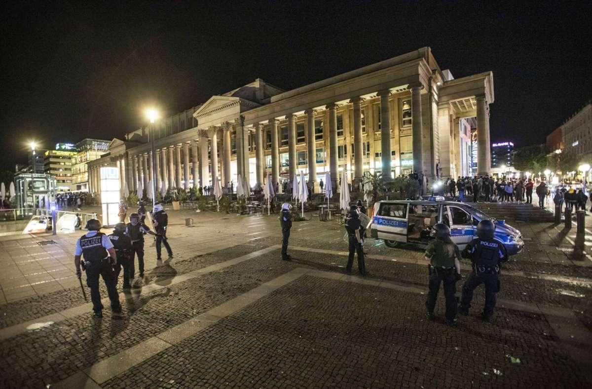 Die Polizei rückte an, um die Lage zu befrieden. Foto: 7aktuell.de/Simon Adomat