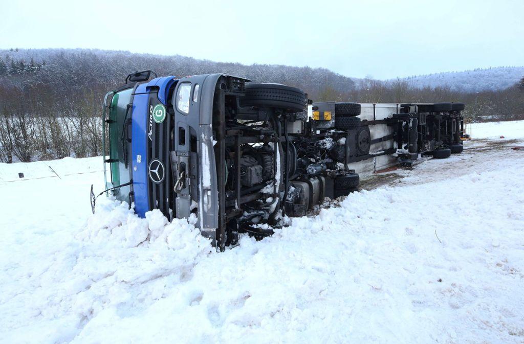 Der Fahrer wurde bei dem Unfall nicht verletzt. Foto: dpa