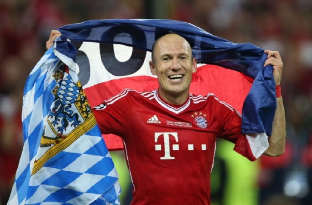 Arjen Robben zeigt Flagge – und plant für das DFB-Pokalfinale noch mehr. Foto: dpa