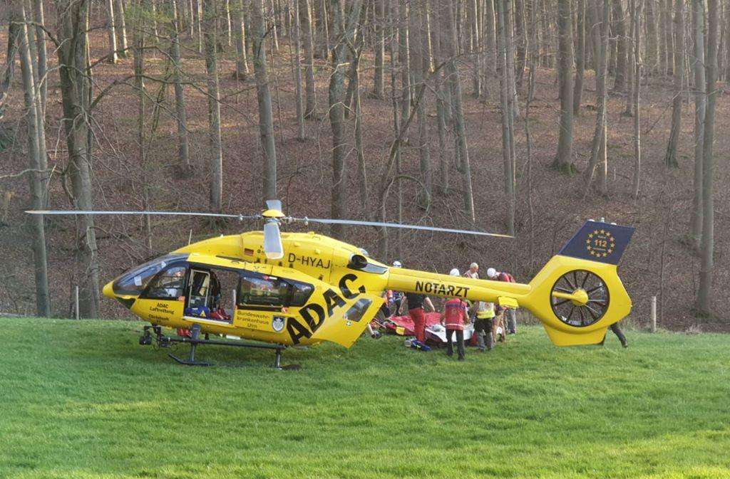 Ein Rettungshubschrauber brachte die  Frau in ein Krankenhaus, wo sie später verstarb. (Symbolbild) Foto: 7aktuell.de/Christina Zambito/7aktuell.de | Christina Zambito