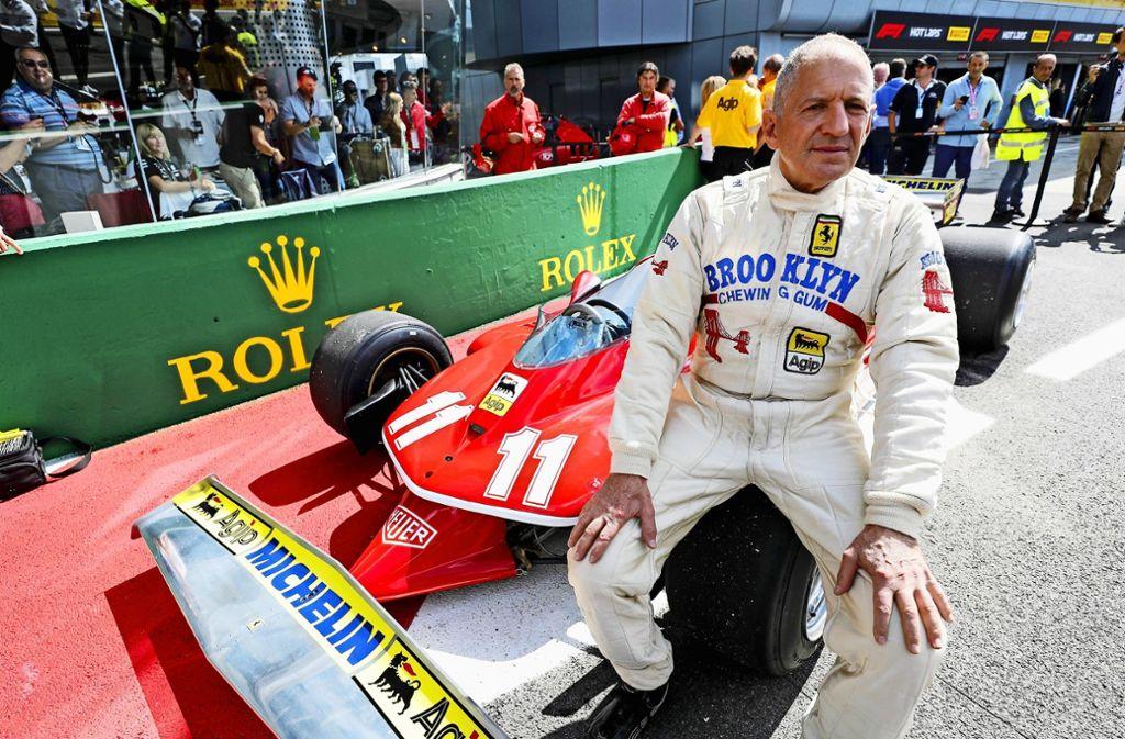 Jody Scheckter mit seinem Ferrari 312T im September in Monza. Foto: imago //Seven Tee