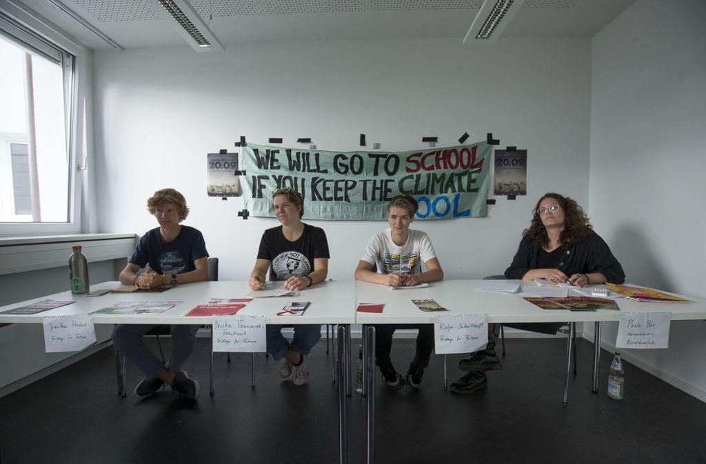 Globaler Klimastreik: Auch Stuttgarter Klimaaktivisten rufen zur Teilnahme auf. Foto: Lichtgut/Leif Piechowski