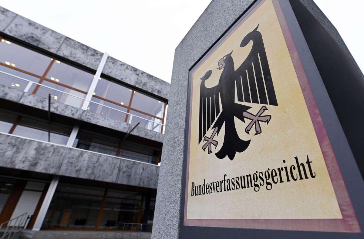 Das Bundesverfassungsgericht in Karlsruhe. (Archivbild) Foto: dpa/Uli Deck