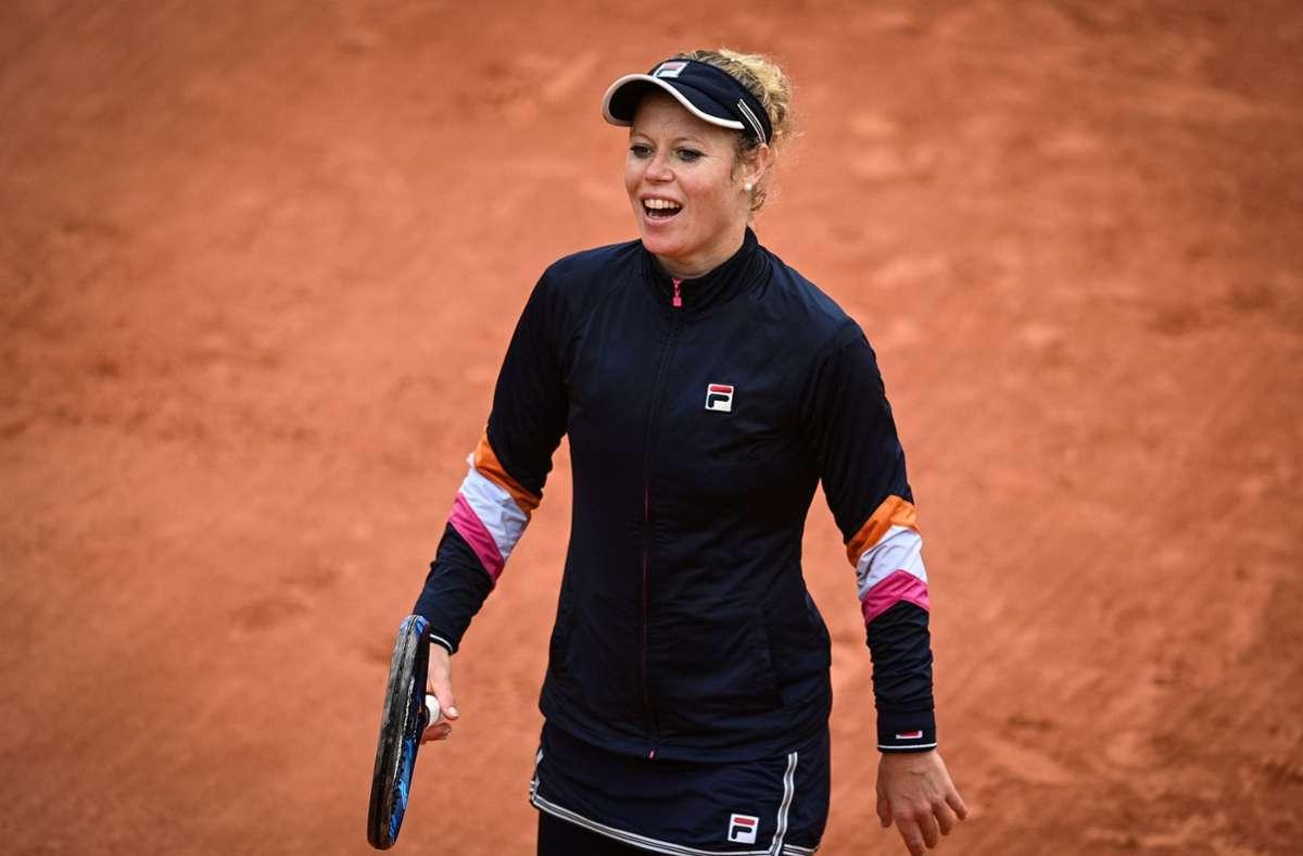 Im Doppel hat Laura Siegemund zuletzt bei den US Open für Furore gesorgt. Foto: AFP/ANNE-CHRISTINE POUJOULAT
