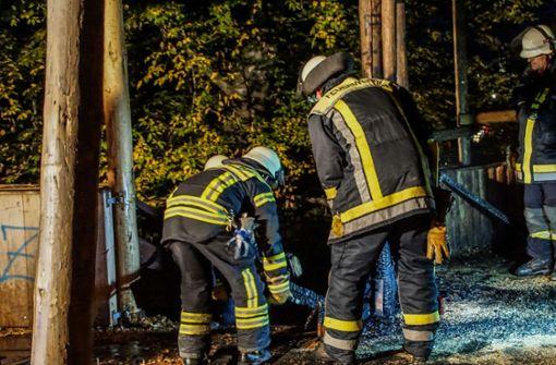 Die Bergwaldhalle brennt