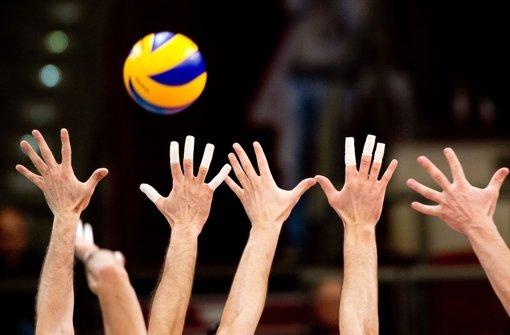 Volleyballer spielen um Meisterschaft