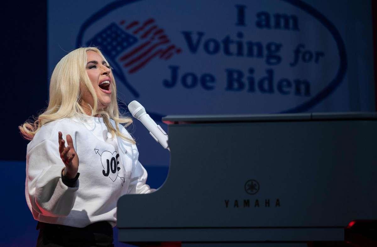 Lady Gaga vor der US-amerikanischen Präsidentschaftswahl im November Foto: AFP/JIM WATSON