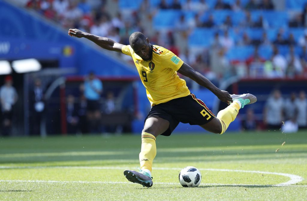 Auf Torejagd: Belgiens Stürmer Lukaku trifft gegen Tunesien gleich doppelt. Foto: AP