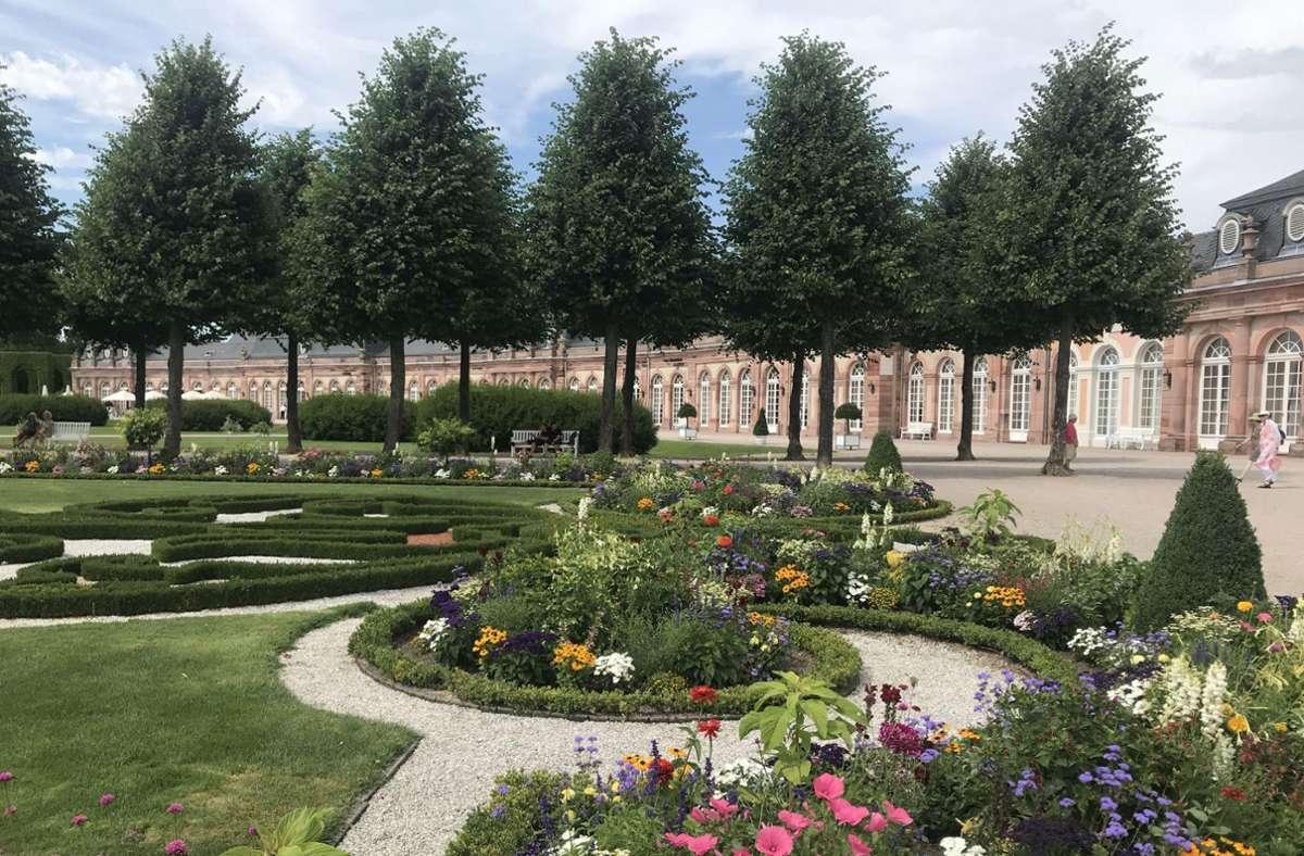Der Barockgarten von Schloss Schwetzingen ist nach französischem Vorbild geometrisch-symmetrisch angelegt. Foto: Staatsanzeiger für BW/Petra Schaffrodt