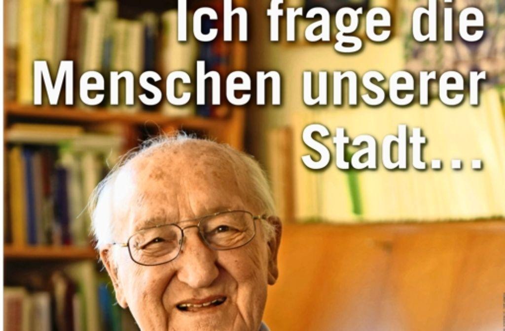 Mit diesen  Plakaten will Albert Sting   eine Diskussion in Gang bringen. Foto: Arbeitskreis Dialog Synagogenplatz
