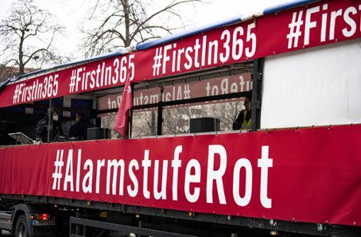 Veranstalterbranche demonstriert in Berlin