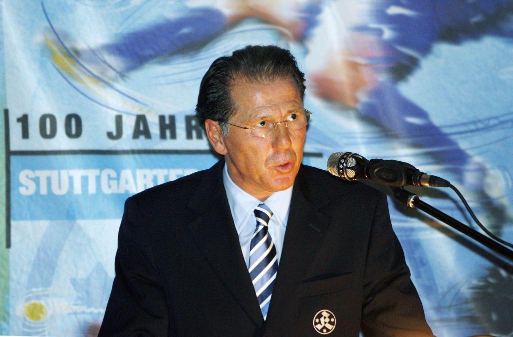Walter Kelsch, hier 2007 als Präsidiumsmitglied der Stuttgarter Kickers, soll wegen Beihilfe zum Drogenhandel und Anlagebetrugs hinter Gitter. Foto: Herbert Rudel