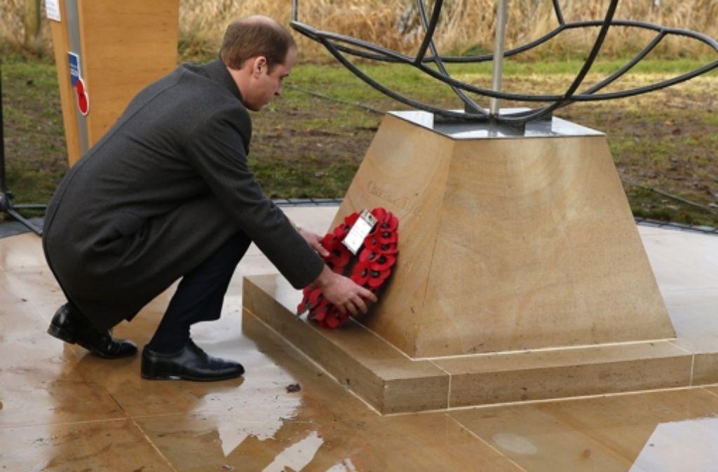 Prinz William weiht ein Denkmal in Staffordshire ein. Foto: Getty Images Europe