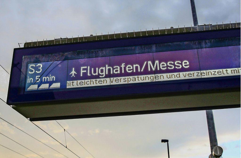 Während der Bauzeit am Flughafen für S 21 und deren Vollsperrung der dortigen Station soll für die S-Bahn ein Interimshalt eingerichtet werden, fordert der Verband Region Stuttgart. Foto: Lichtgut/Leif Piechowski