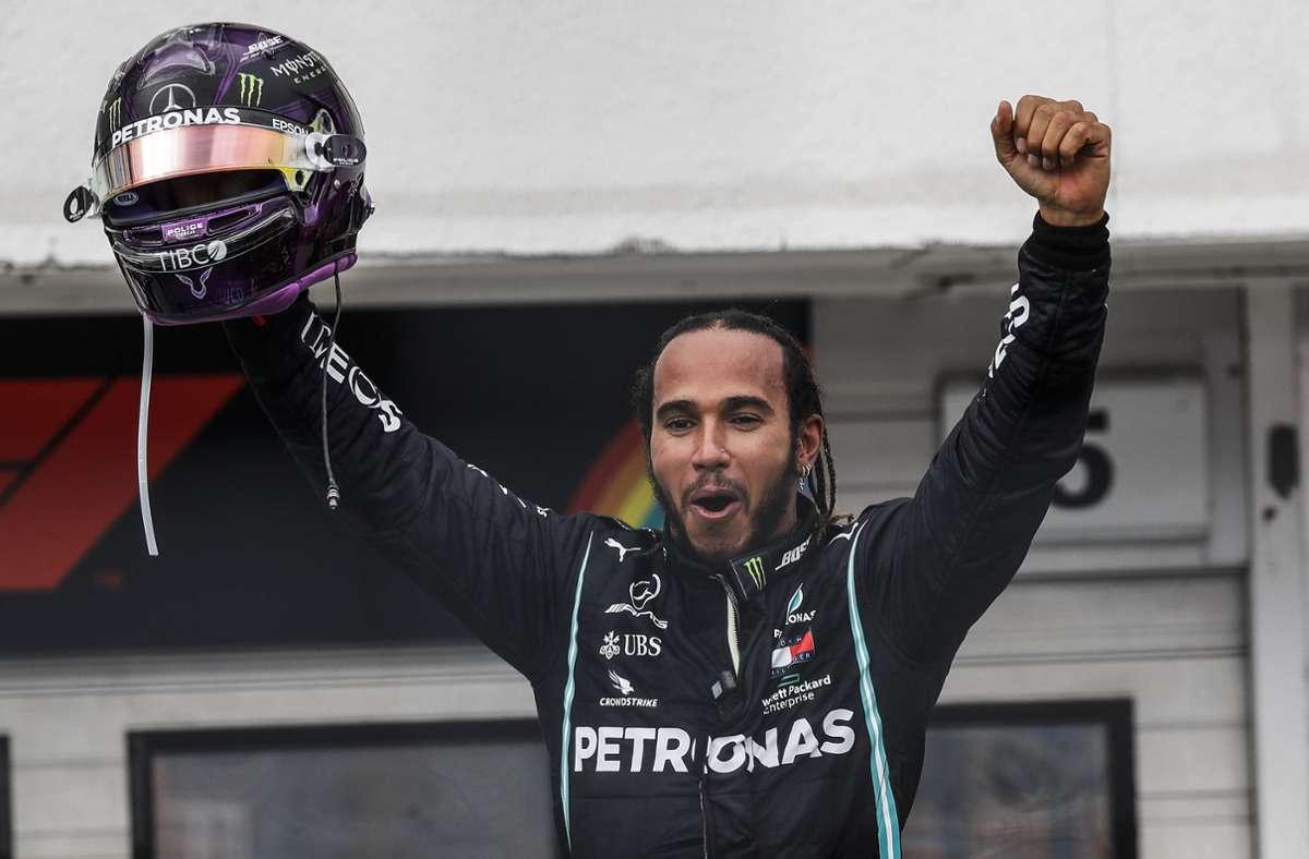 Lewis Hamilton siegt in Ungarn. Foto: AP/Leonhard Foeger