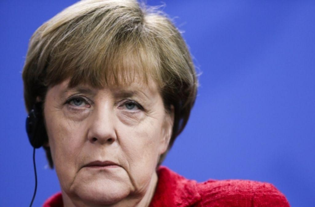 Wenn sie weiterhin im derzeitigen Tempo an Ansehen verliert, ist sie bald eine Wackelkandidatin: Kanzlerin Angela Merkel. Foto: AP